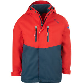 TROLLKIDS Bryggen 3in1 Jacket Kids bright red/mystic blue